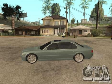 BMW E38 M7 para GTA San Andreas left