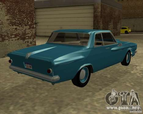 Plymouth Savoy 1962 para GTA San Andreas left