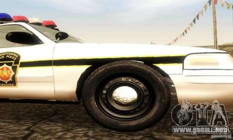 Ford Crown Victoria Pennsylvania Police para la visión correcta GTA San Andreas