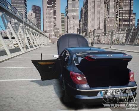 Volkswagen Passat CC para GTA 4 vista desde abajo