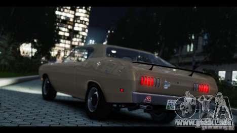Dodge Demon 1971 para GTA 4 vista hacia atrás