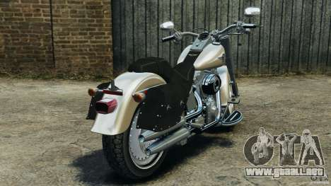 Harley Davidson Softail Fat Boy 2013 v1.0 para GTA 4 Vista posterior izquierda