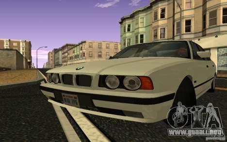 BMW 525 (E34) V.2 para GTA San Andreas vista posterior izquierda