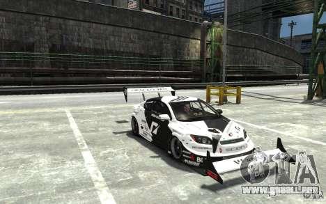 Scion tC AWD V1.0 para GTA 4 vista hacia atrás