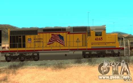 SD 40 Union Pacific Building America para GTA San Andreas vista posterior izquierda
