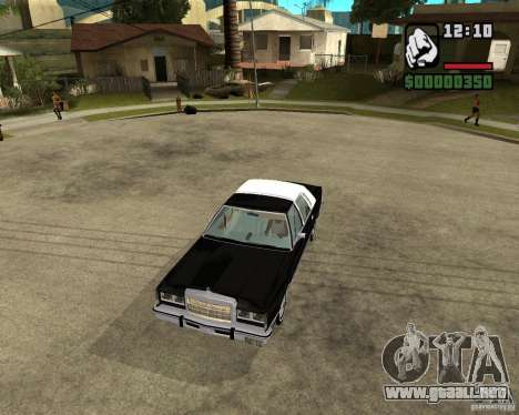 Lincoln Town Car 1986 para visión interna GTA San Andreas