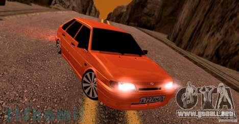2114 Ваз con jugo de naranja para GTA San Andreas