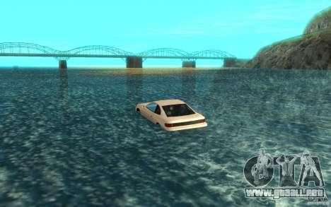 Alpha boat para GTA San Andreas vista posterior izquierda