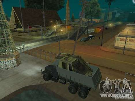 KrAZ-256b1-030 para GTA San Andreas vista posterior izquierda