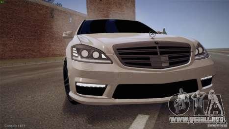 Mercedes-Benz S65 AMG para GTA San Andreas left
