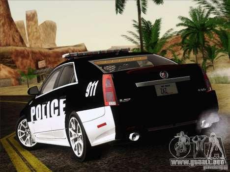 Cadillac CTS-V Police Car para la visión correcta GTA San Andreas