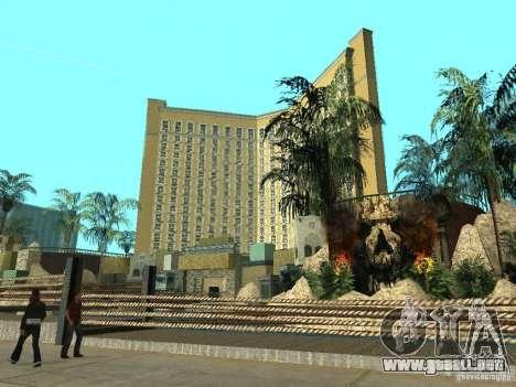Nuevas texturas para casino Visage para GTA San Andreas sucesivamente de pantalla