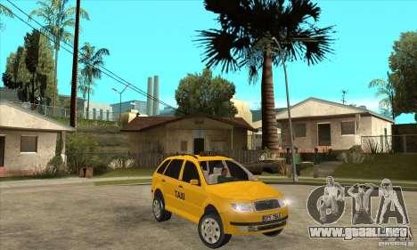 Skoda Fabia Combi Taxi para GTA San Andreas vista hacia atrás