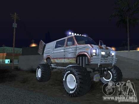 Ford Grave Digger para GTA San Andreas vista hacia atrás