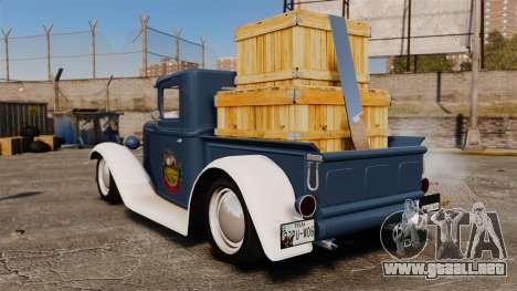 Ford Farmtruck MF 1932 para GTA 4 Vista posterior izquierda