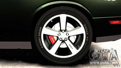 Dodge Challenger SRT8 392 2012 Police [ELS][EPM] para GTA 4 interior