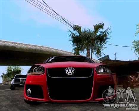 Volkswagen Golf MK5 GTI Stance para la visión correcta GTA San Andreas