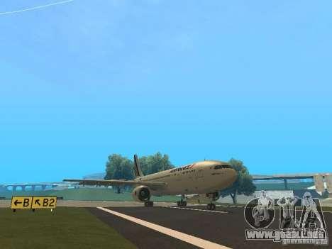 Airbus A300-600 Air France para GTA San Andreas vista posterior izquierda