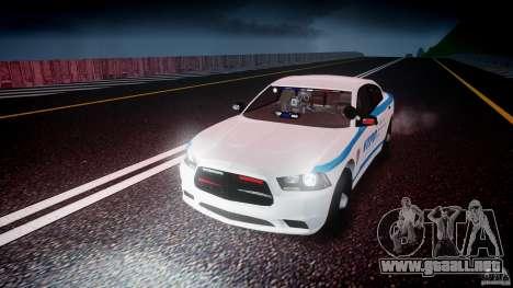 Dodge Charger NYPD 2012 [ELS] para GTA 4 vista superior