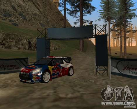 Citroen DS3 WRC para GTA San Andreas left