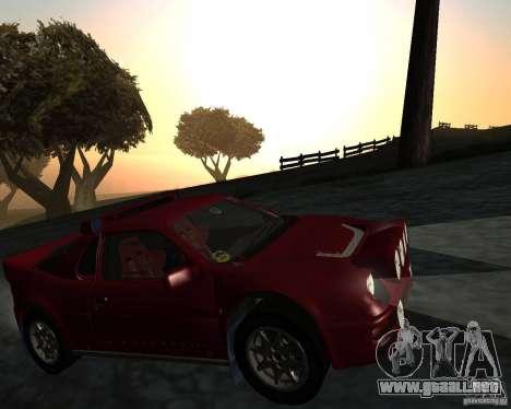 Ford RS 200 para visión interna GTA San Andreas