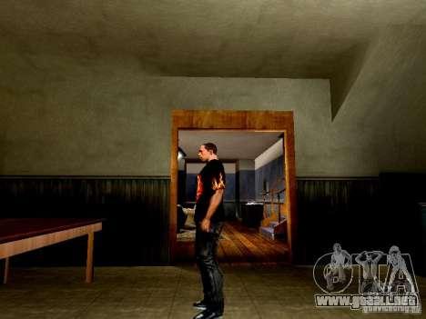 Camiseta negra con una calavera para GTA San Andreas segunda pantalla