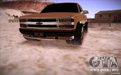 Chevrolet Silverado 3500 para la visión correcta GTA San Andreas