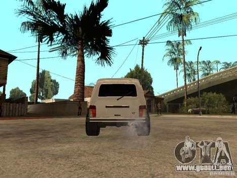 La afinación luz Niva VAZ 21213 para GTA San Andreas vista posterior izquierda