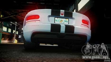 Dodge Viper SRT-10 para GTA 4 interior