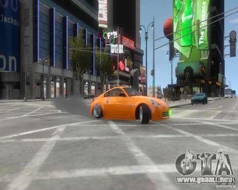 Nissan 350Z para GTA 4 vista hacia atrás
