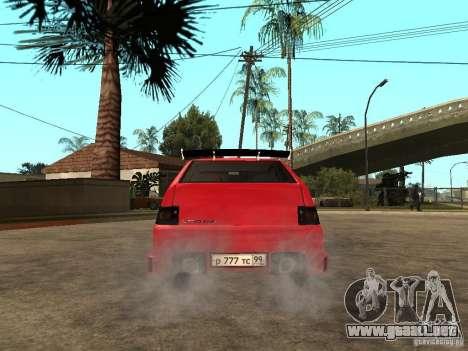 Lada 2112 GTS Sprut para GTA San Andreas vista posterior izquierda