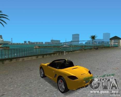 Porsche Boxster 2010 para GTA Vice City visión correcta