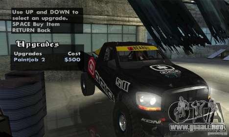 Dodge Power Wagon Paintjobs Pack 2 para visión interna GTA San Andreas