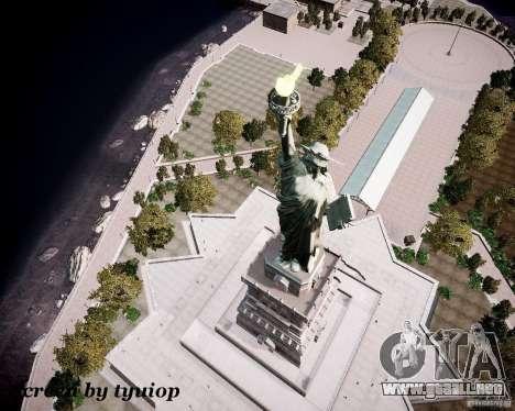 New Statue of Liberty para GTA 4 quinta pantalla