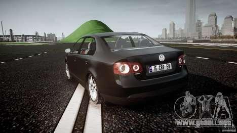 Volkswagen Jetta 2008 para GTA 4 Vista posterior izquierda