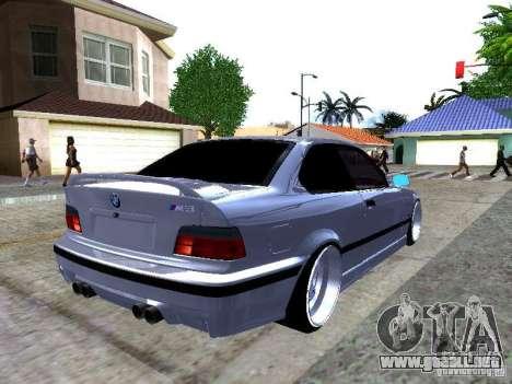 BMW M3 E36 Light Tuning para GTA San Andreas vista posterior izquierda