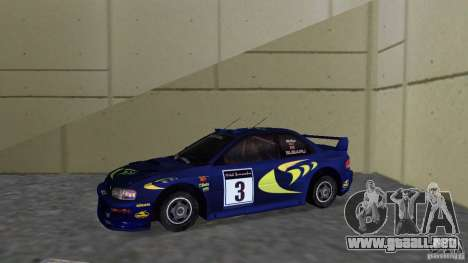 Subaru Impreza 22B Rally Edition para GTA Vice City left