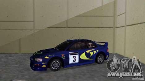 Subaru Impreza 22B Rally Edition para GTA Vice City left