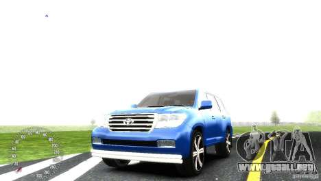 Toyota Land Cruiser 200 RESTALE para GTA 4 vista interior