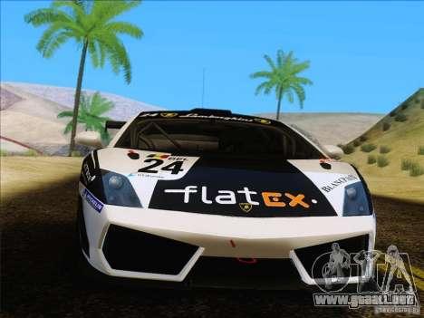 Lamborghini Gallardo LP560-4 GT3 V2.0 para la visión correcta GTA San Andreas
