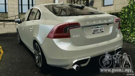 Volvo S60 R-Designs v2.0 para GTA 4 Vista posterior izquierda