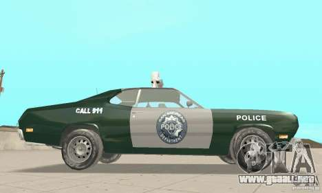 Plymouth Duster 340 Police para la visión correcta GTA San Andreas