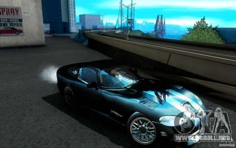 Dodge Viper GTS Coupe TT Black Revel para vista inferior GTA San Andreas