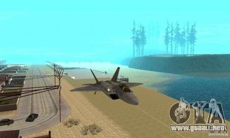 F-22 Grey para visión interna GTA San Andreas