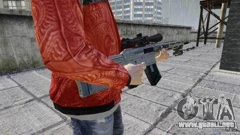 RSASS de MW3 (francotirador) para GTA 4 tercera pantalla