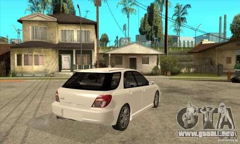 Subaru Impreza WRX Wagon 2002 para la visión correcta GTA San Andreas