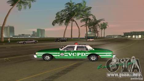 Ford LTD Crown Victoria 1985 Interceptor LAPD para GTA Vice City visión correcta
