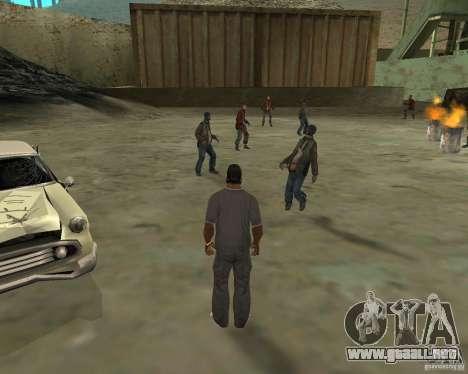 Barney sin hogar para GTA San Andreas segunda pantalla