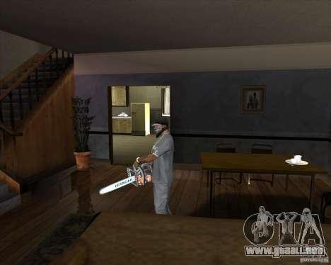 Motosierra nueva para GTA San Andreas segunda pantalla