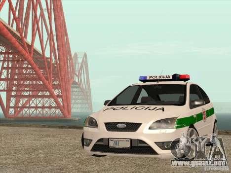 Ford Focus ST Policija para vista lateral GTA San Andreas